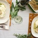 Apple Sage Chicken Meatloaf + Mashed Cauliflower