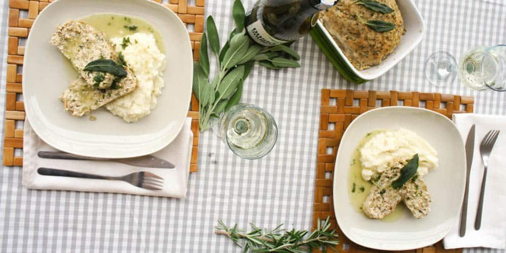 Apple Sage Chicken Meatloaf + Mashed Cauliflower