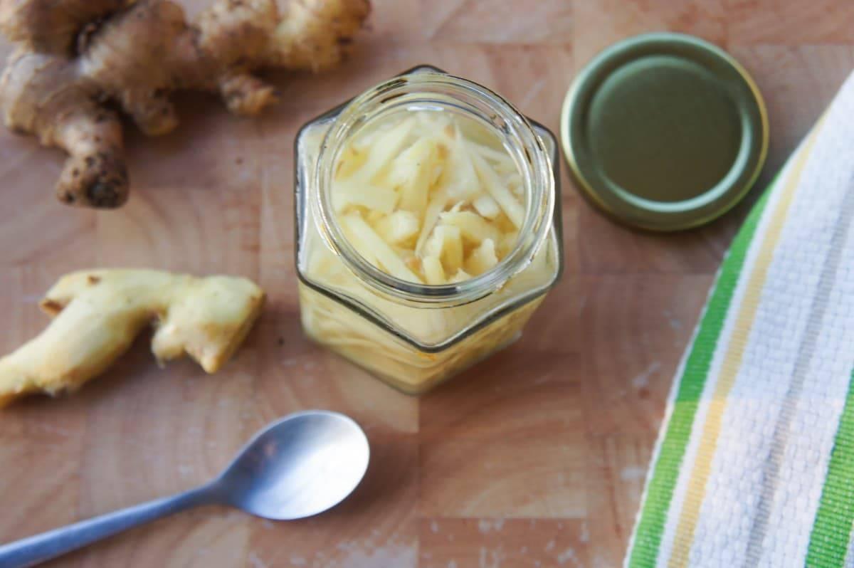 Preserving Fresh Ginger