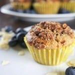 Buckwheat Blueberry Muffins {Gluten-Free}
