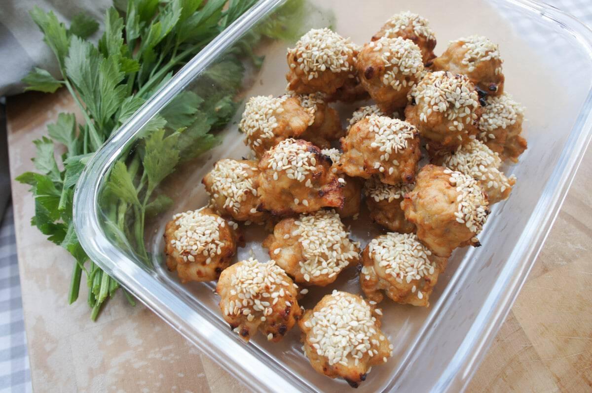 Asian Sesame Chicken Meatballs