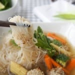 """""""Health in a Bowl"""" Soup {Asian Chicken Meatball Soup}"""