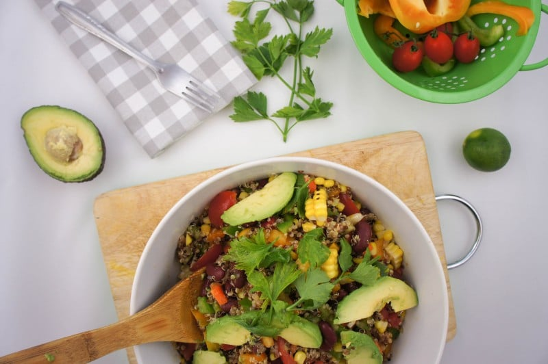 SW Quinoa Salad with Kidney Beans