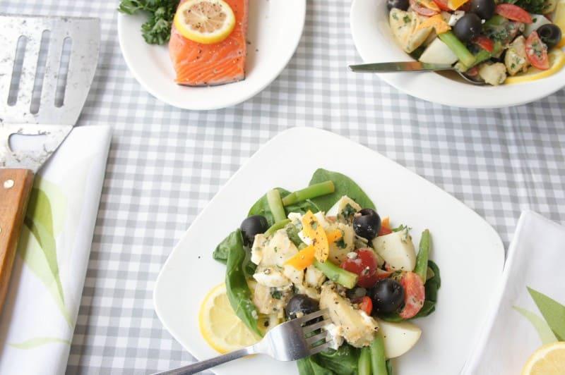 Niçoise Potato Salad {Mayo-Free, Vegetarian}