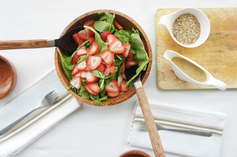 Seeded Strawberry Spinach Salad