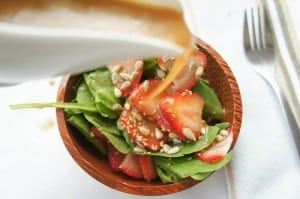 Strawberry Spinach Salad with Mustard Vinaigrette