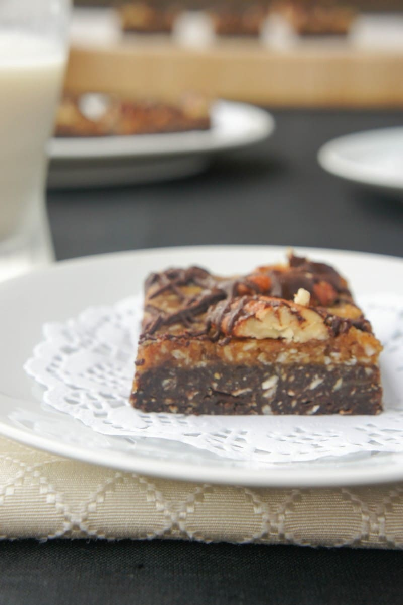 chocolate coconut date bar