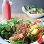 Blackened Salmon and Mango Salad