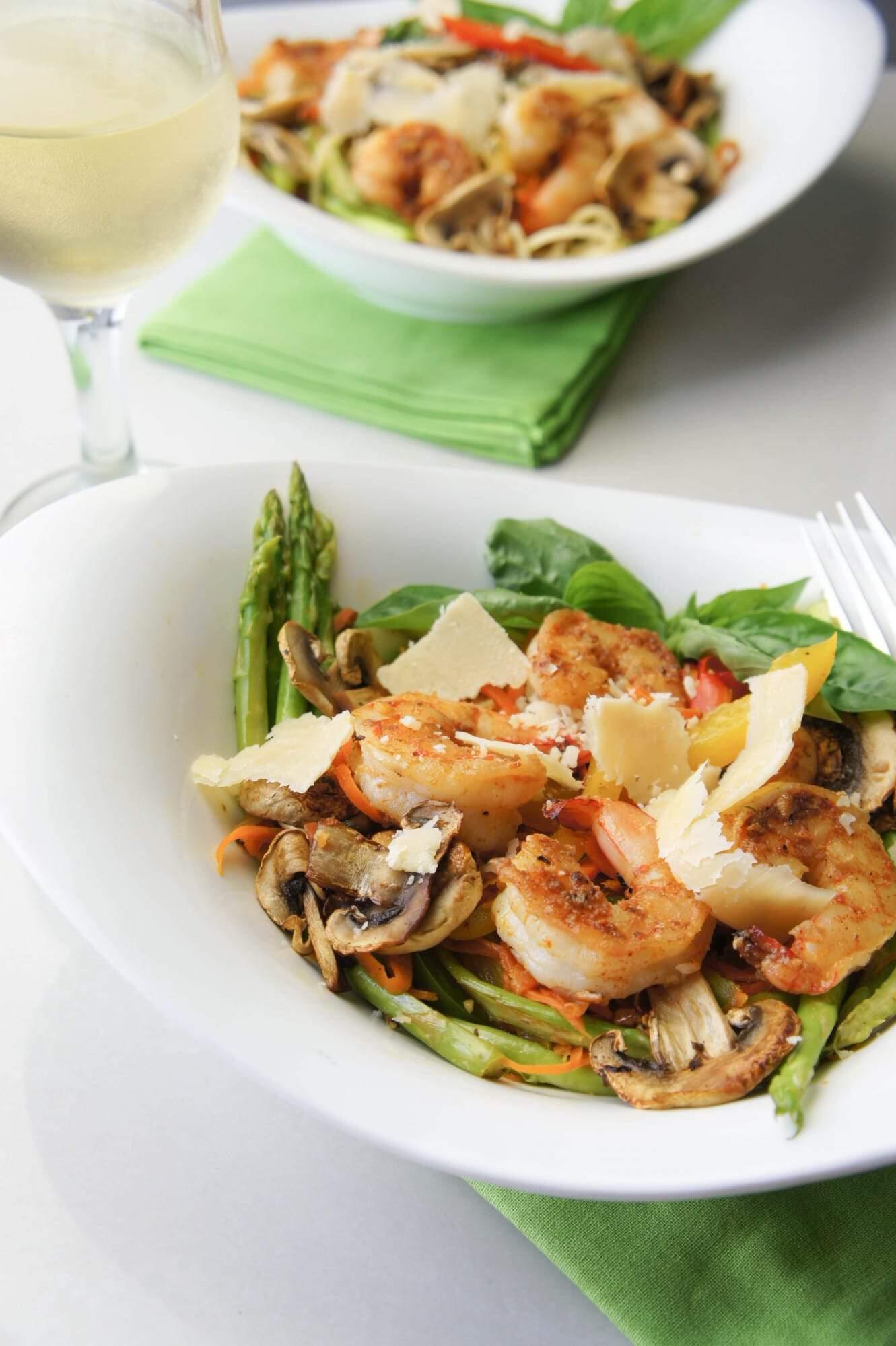Summer Veggies With Pasta And Shrimp Recipes — Dishmaps