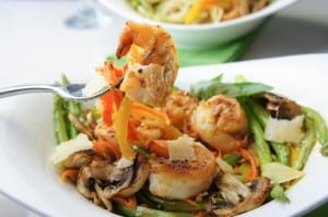 Shrimp Pasta Primavera {Gluten Free + Low-Carb & Paleo Option!}