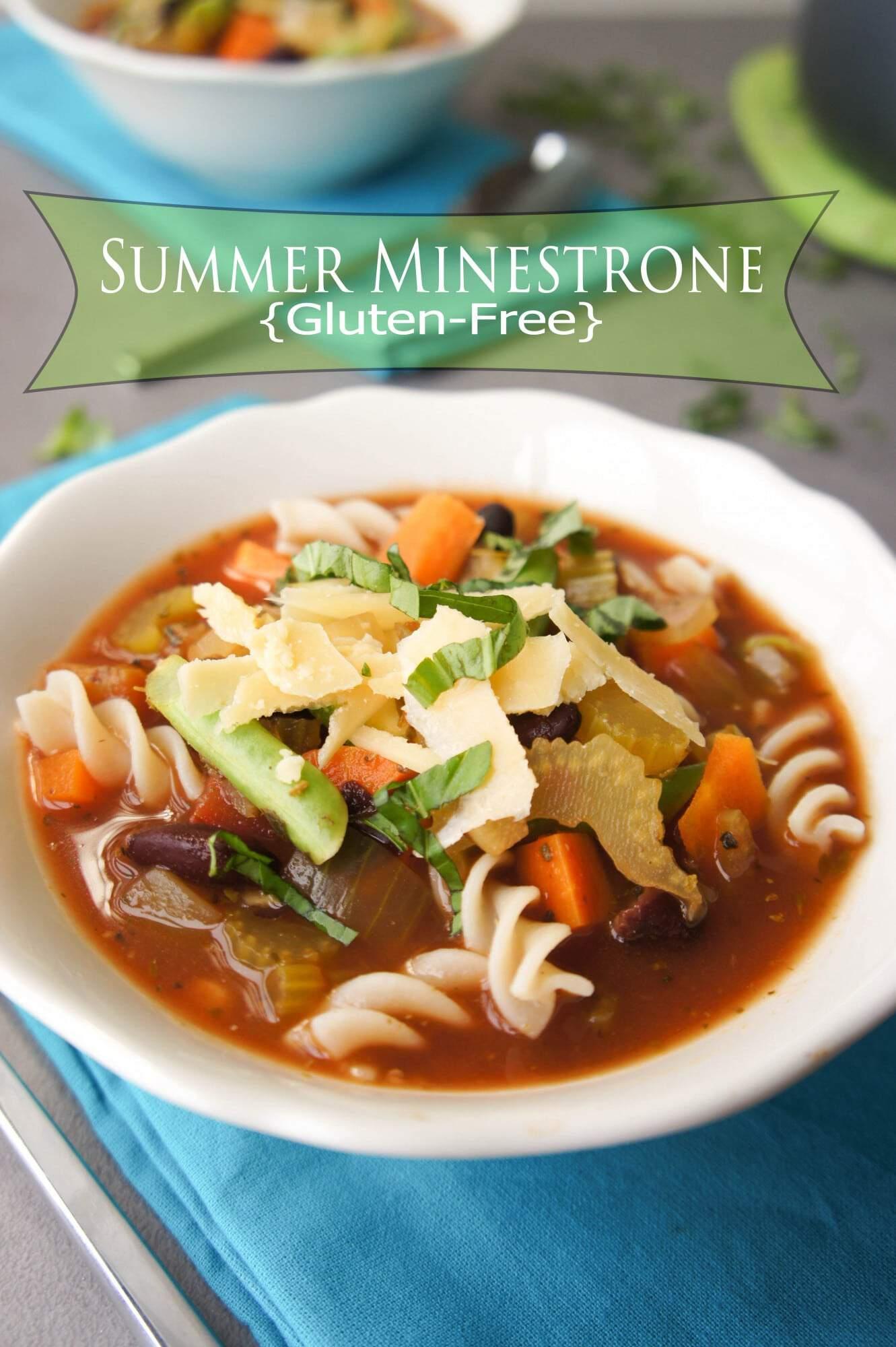 Summer Minestrone Soup {Vegan, Gluten-Free}