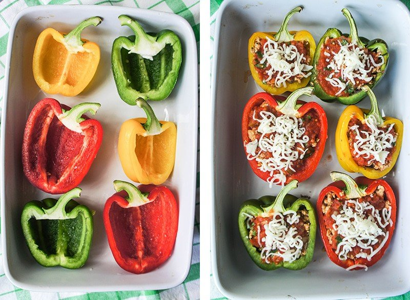 7 Layer Dip Stuffed Bell Peppers 1