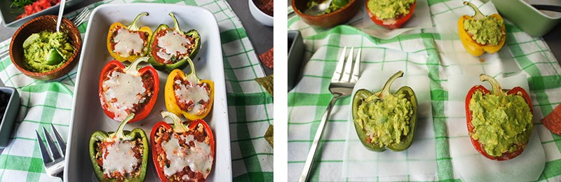 7 Layer Dip Stuffed Bell Peppers 2