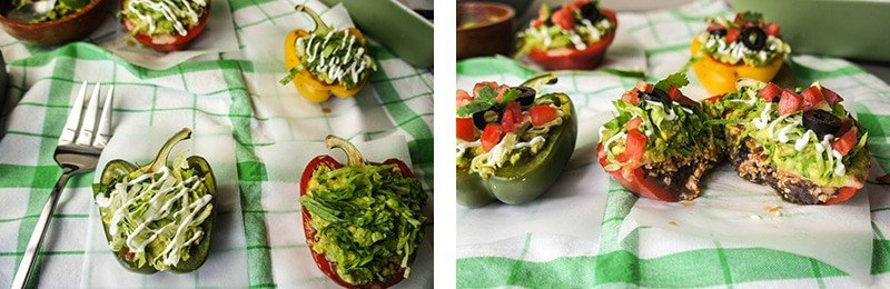 7 Layer Dip Peppers 3