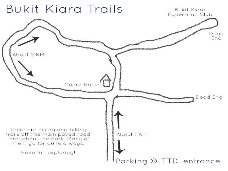 Bukit Kiara Paved Road
