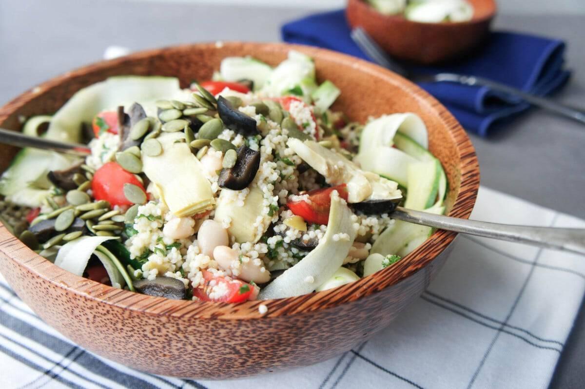 Artichoke Millet Power Salad