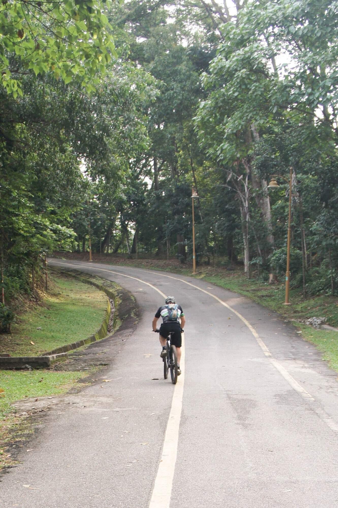 Biker at Bukit Kiara