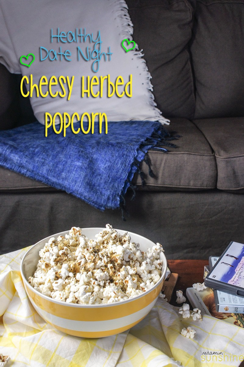 Cheesy Herbed Popcorn