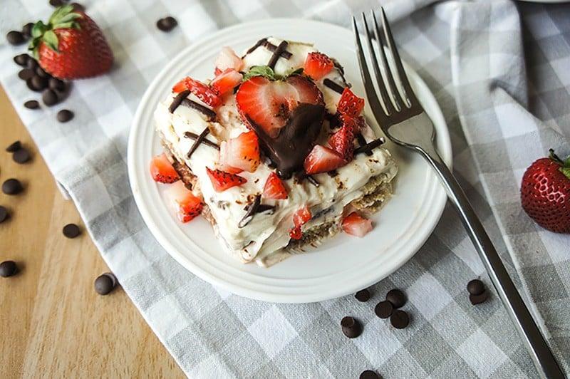 Chocolate Covered Strawberry Tiramisu