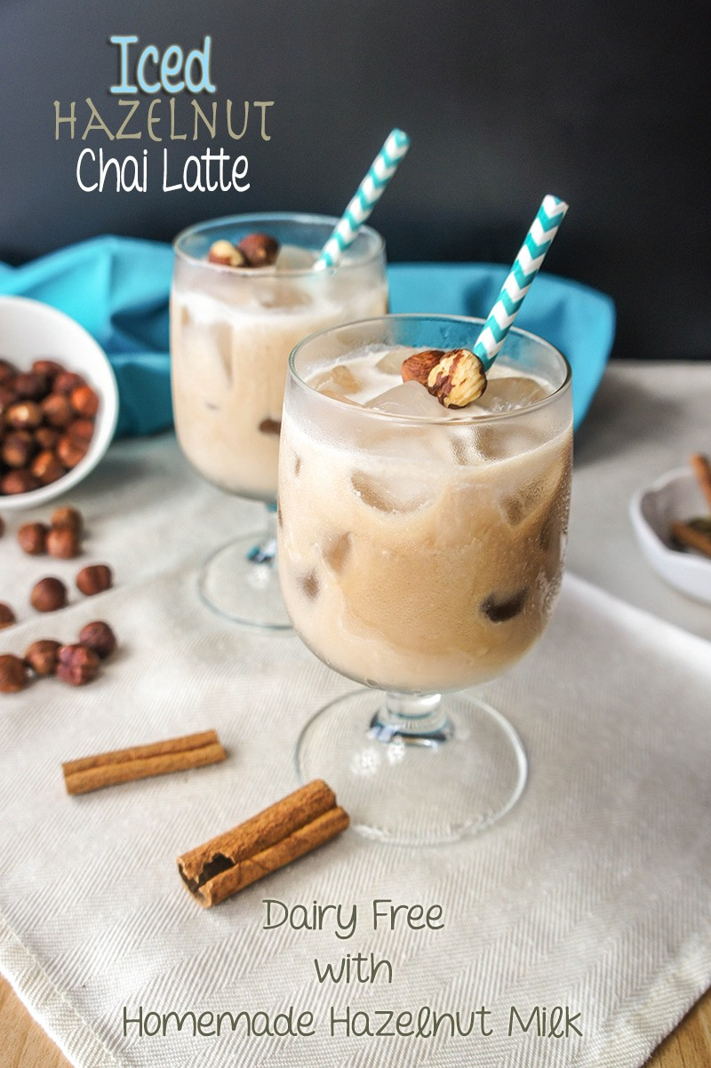 Iced Hazelnut Chai Latte