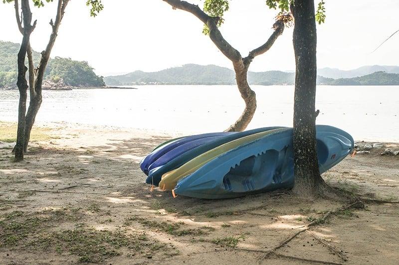 kayaks beach