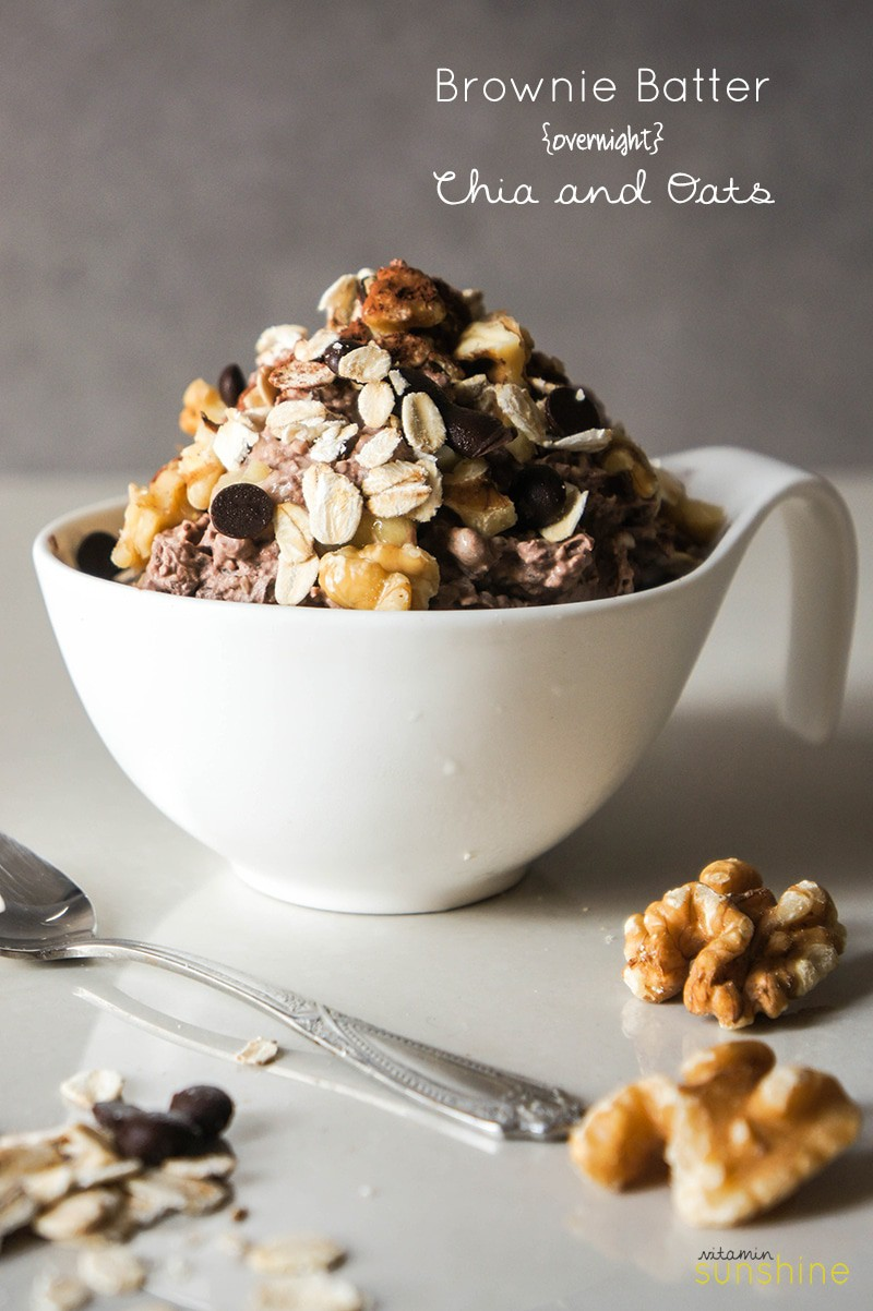 Brownie Batter Overnight Chia and Oats