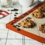 Chocolate Covered Raisin Oatmeal Cookies {Gluten Free}