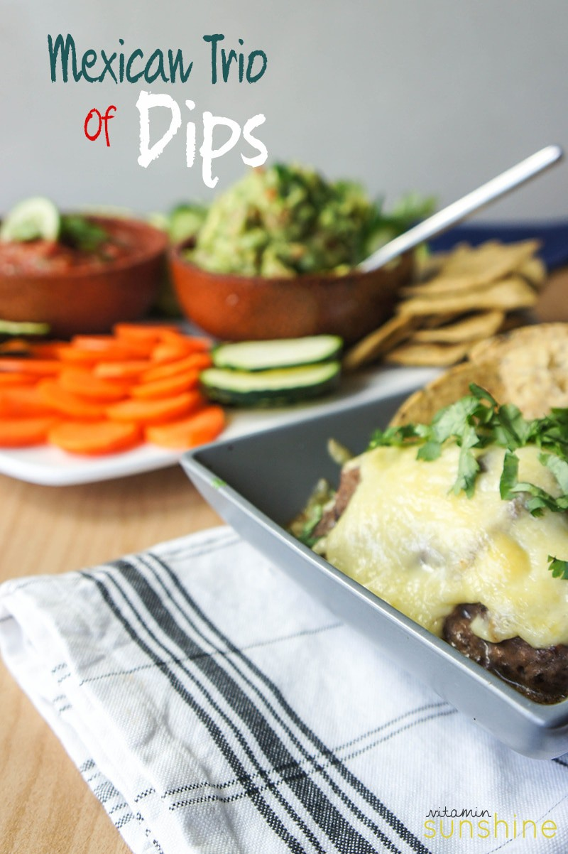 Trio of Healthy Mexican Dips
