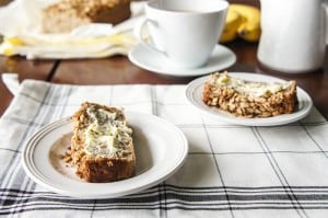 Gluten Free Caramelized Banana Bread