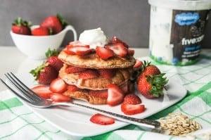 Strawberry Shortcake Protein Pancakes