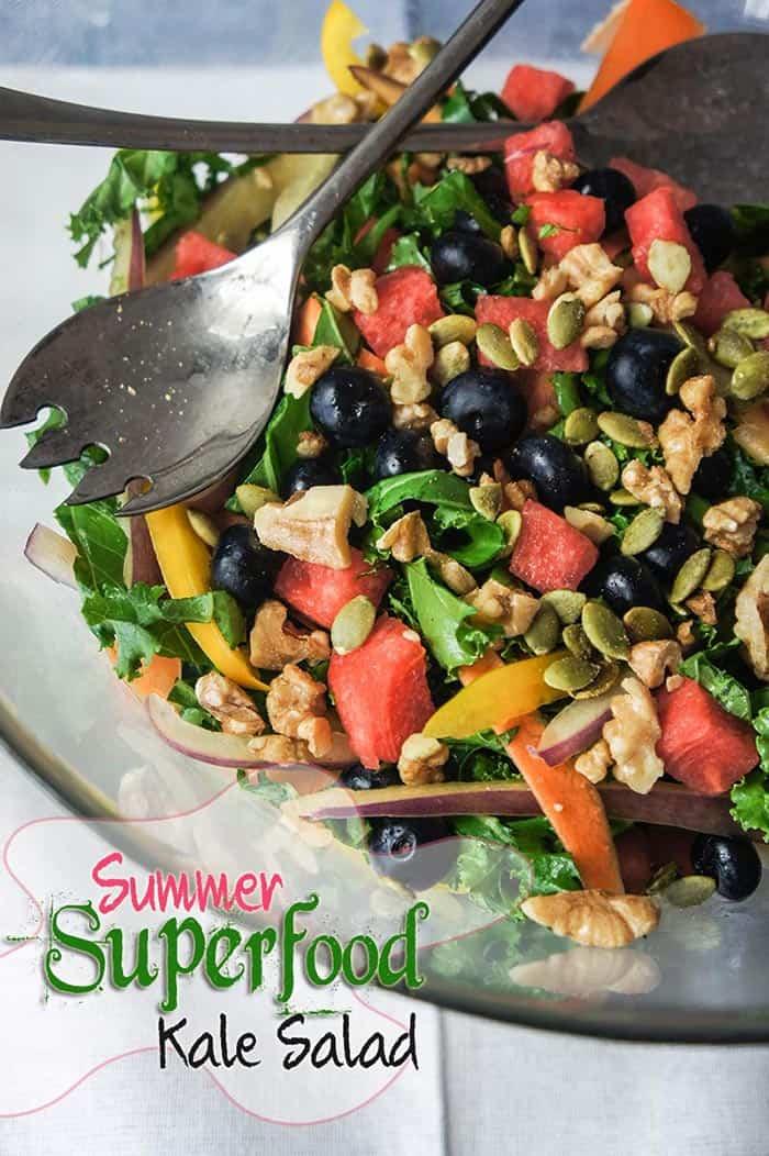 Summer Superfood Kale Salad
