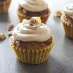 Hazelnut Cupcakes with Autumn Spice Buttercream {Low Sugar, Grain-Free}
