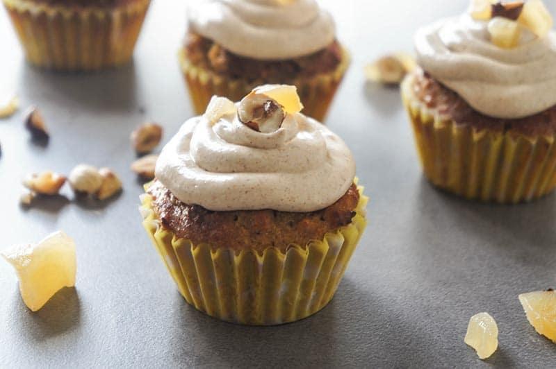 Hazelnut Cupcakes with Autumn Spice Buttercream