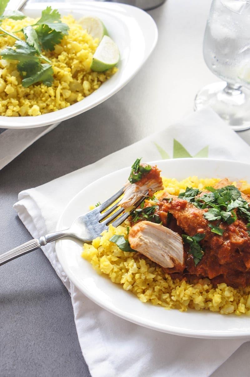 Lightened up Chicken Tikka Masala
