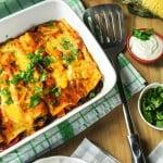 Butternut, Spinach, and Black Bean Enchiladas {Vegetarian}