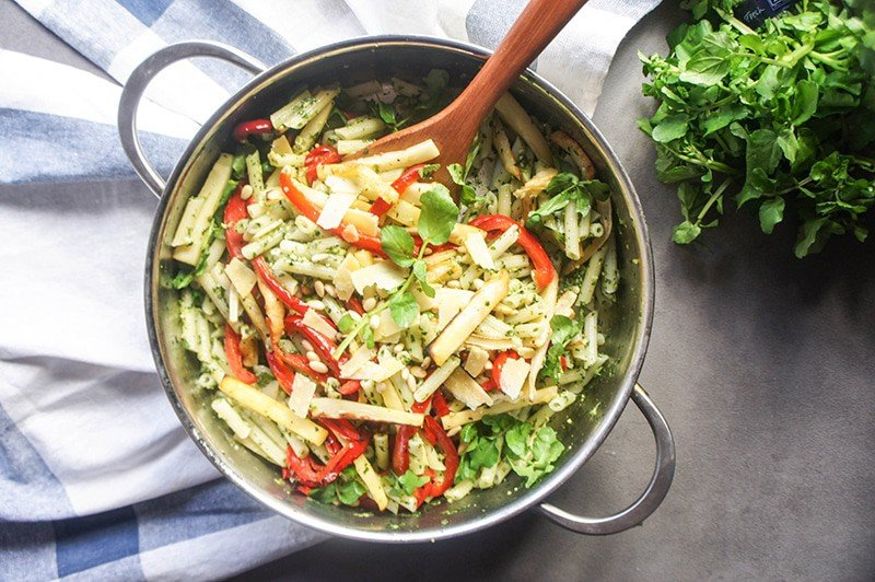 Watercress Pesto Pasta