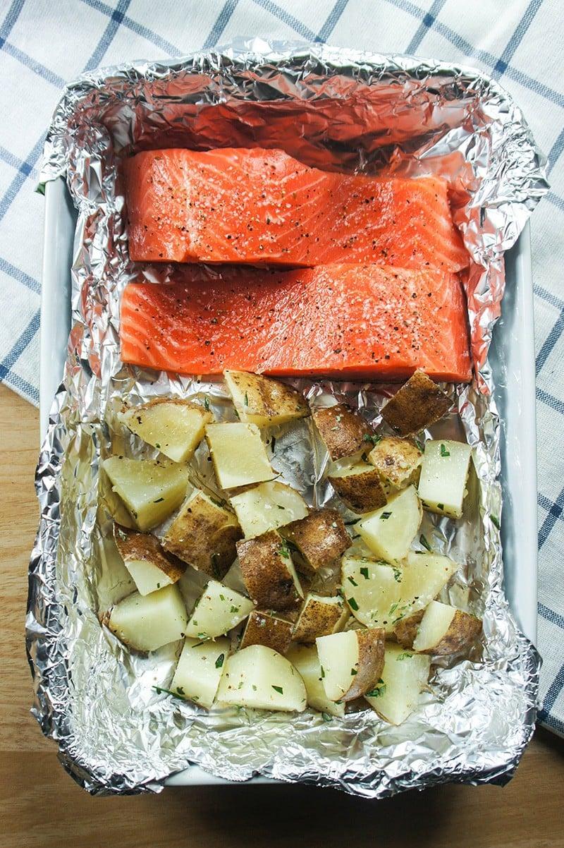 Salmon and Potatoes