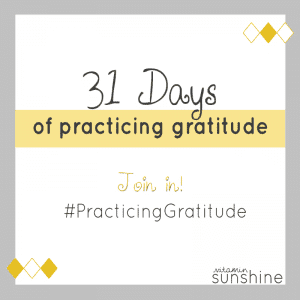 31 Days of Practicing Gratitude