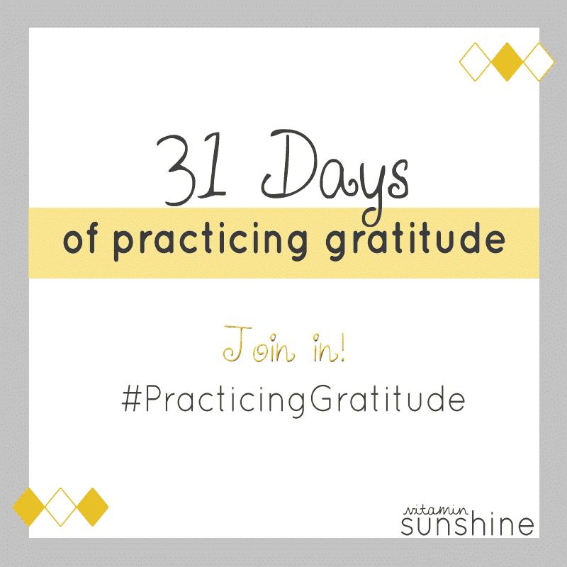 31 Days of Gratitude