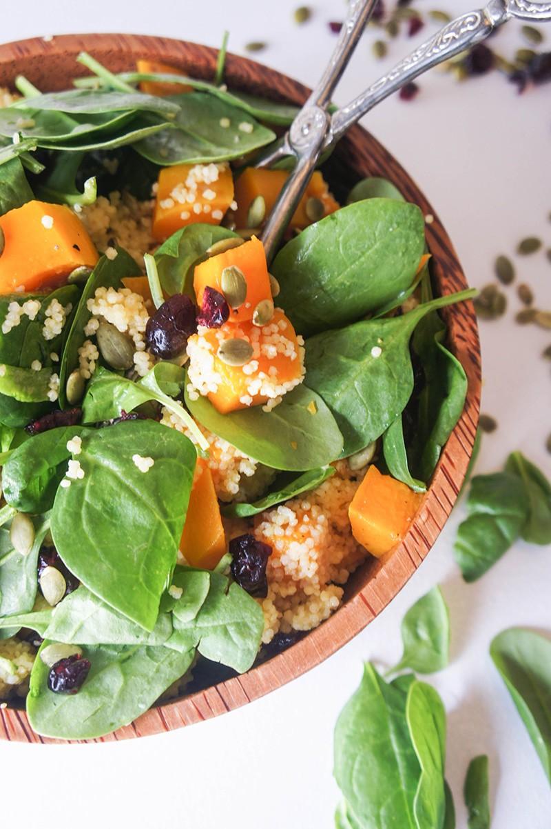 Butternut Spinach Salad