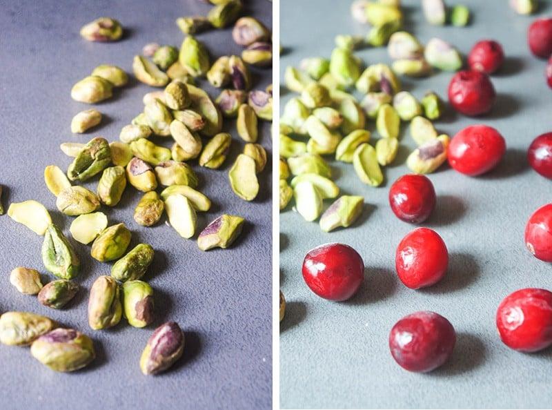 pistachios and cranberries