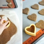 Cutting out Graham Crackers