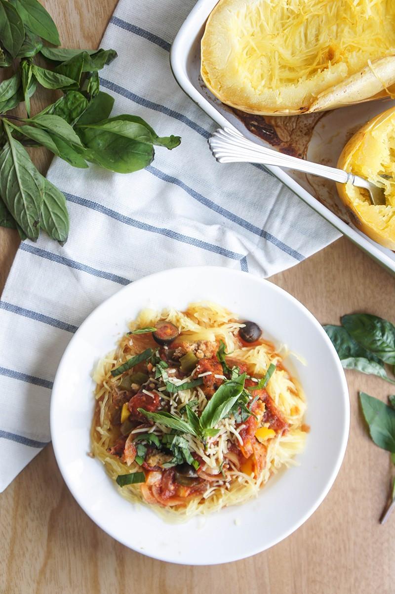 Crockpot Chicken Sausage Spaghetti Sauce Paleo Low Carb