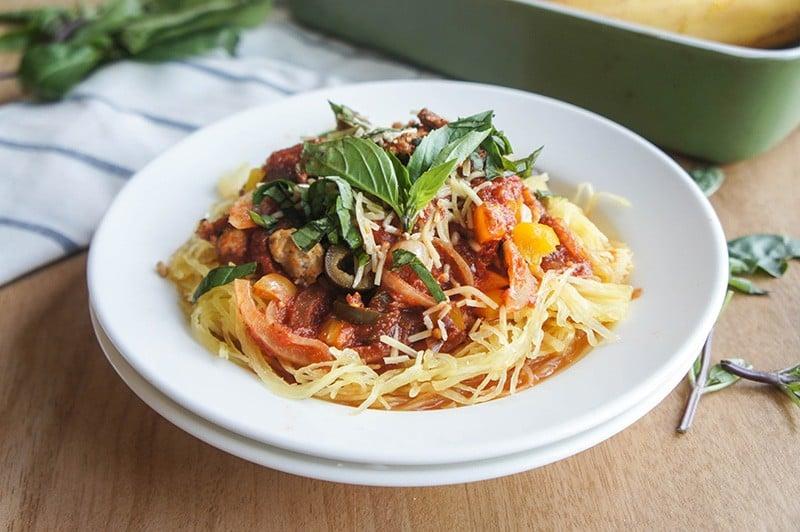 Crockpot Chicken Sausage Spaghetti Sauce
