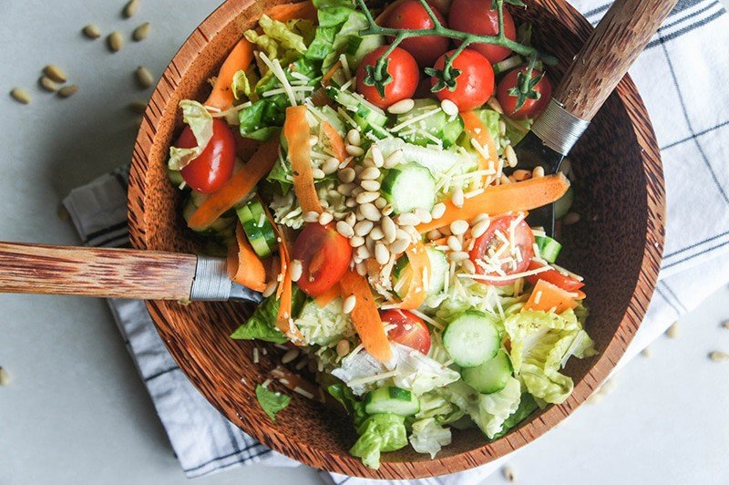 The BEST Crisp 'n Fresh Italian Green Salad - Vitamin Sunshine