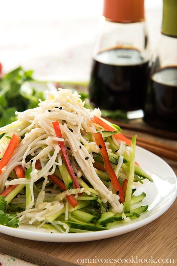Golden-Needle-Mushroom-Salad-6