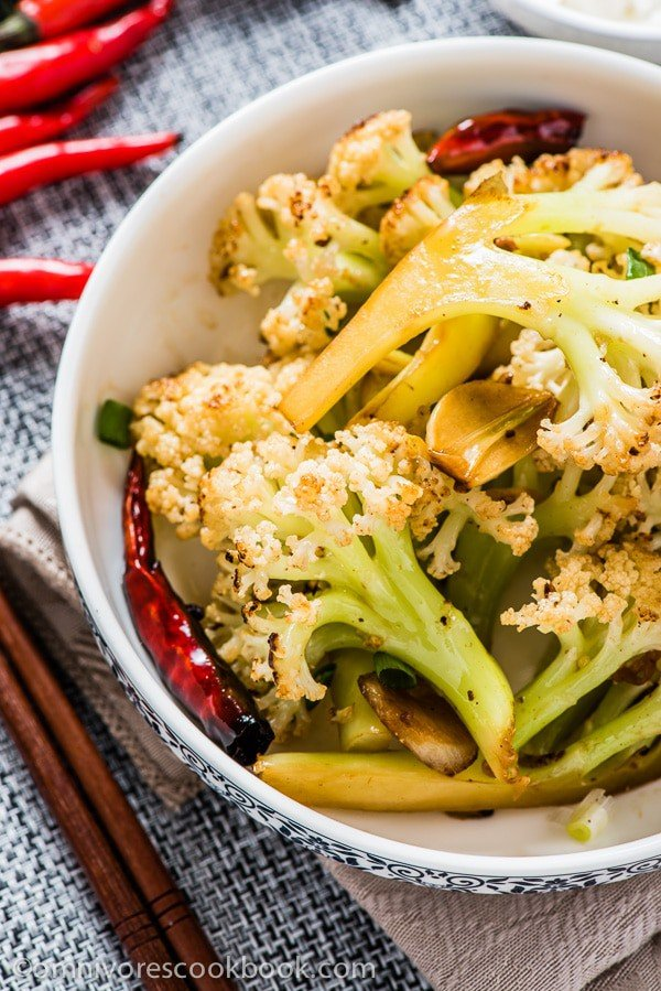 Szechuan Style Stir-Fried Cauliflower