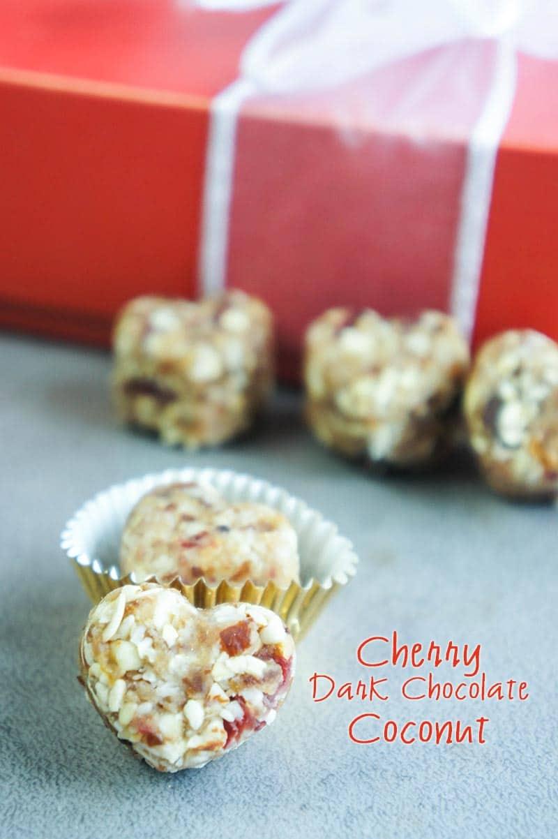 Cherry Chocolate Coconut Energy Bites