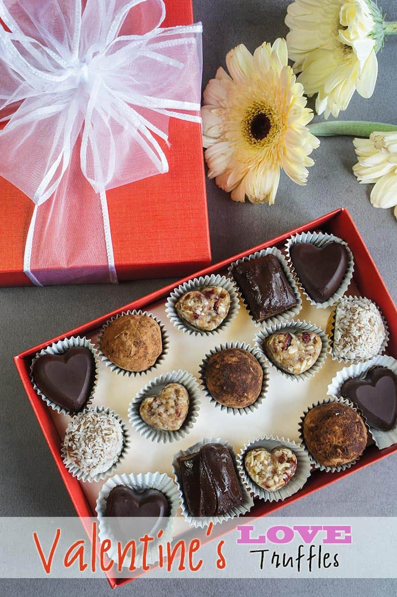 Love Truffles packed in a box