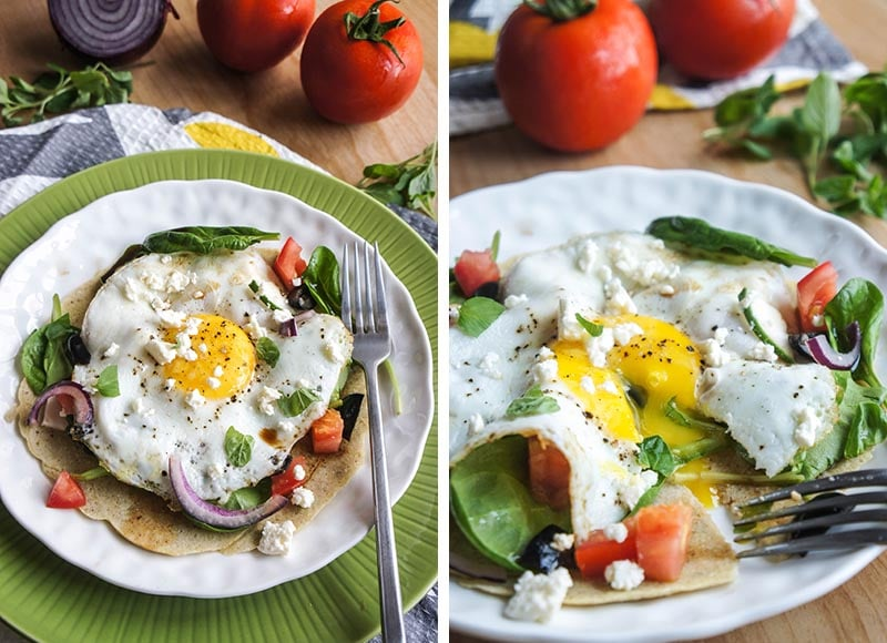 Open Greek Salad Crepe